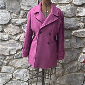 Purple wool pea coat